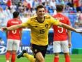 Belgia Unggul 1-0 atas Inggris di Babak Pertama