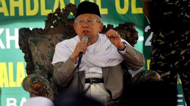 Ma'ruf Amin menanggap penunjukan dirinya sebagai cawapres 2019-2024 merupakan penghargaan Jokowi terhadap ulama dan Nahdlatul Ulama (NU).