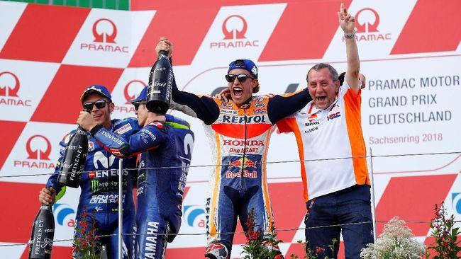 MotoGP Republik Ceko 2018 di Sirkuit Brno akan berlangsung Minggu (5/8). Berikut jadwal siaran langsung balapan MotoGP Ceko.