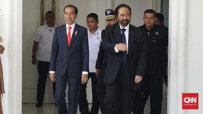 Sindiran Presiden Jokowi kepada Ketum Partai NasDem Surya Paloh soal rangkulan dengan Presiden PKS Sohibul Iman cuma candaan karena kedekatannya bak abang-adik.