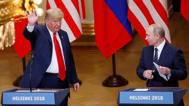 Presiden AS, Donald Trump, dan Presiden Rusia, Vladimir Putin, mengirimkan surat kepada Presiden Joko Widodo untuk mengucapkan selamat atas kesuksesan pemilu.