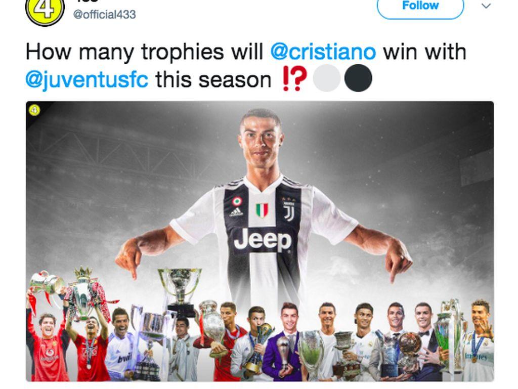 Ronaldo Mendarat di Juventus, Media Sosial Meletus