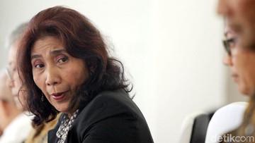 So Sweet! Saat Susi Pudjiastuti Hibur Anak Korban Gempa Lombok