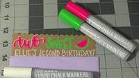 <p>Untuk menghemat budget, bikin undangan ulang tahun anak sendiri juga patut dicoba. (Foto: Instagram @craftingwithkelsey)</p>