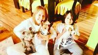 <p>Ternyata Gaby dan Gabriel sama-sama suka anjing nih. (Foto: Instagram/ @gabyspanictv) </p>