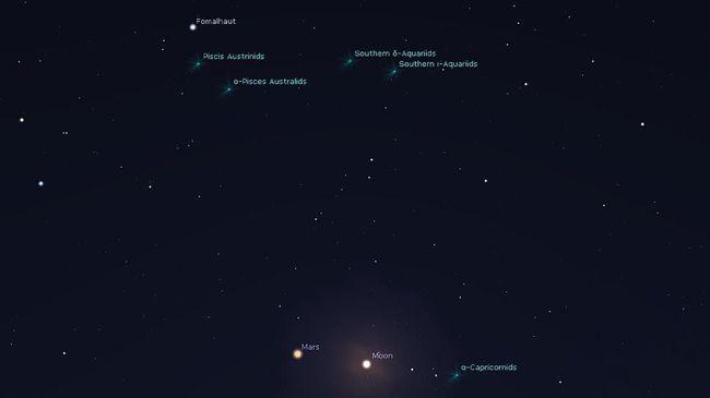 Mars akan terlihat lebih terang tengah malam nanti (31/7) sebagai bintang terang kemerahan saat dilihat dari Bumi.