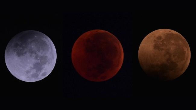 Gerhana bulan total 'Micro Blood Moon' pada Sabtu dini hari berlangsung 1 jam 43 menit, merupakan yang terlama pada abad ini.