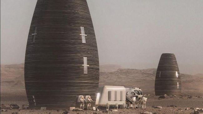 NASA telah memilih lima finalis dalam kompetisi lomba desain rumah koloni yang akan tinggal di Mars dan menggelontorkan hadiah Rp1,4 triliun.