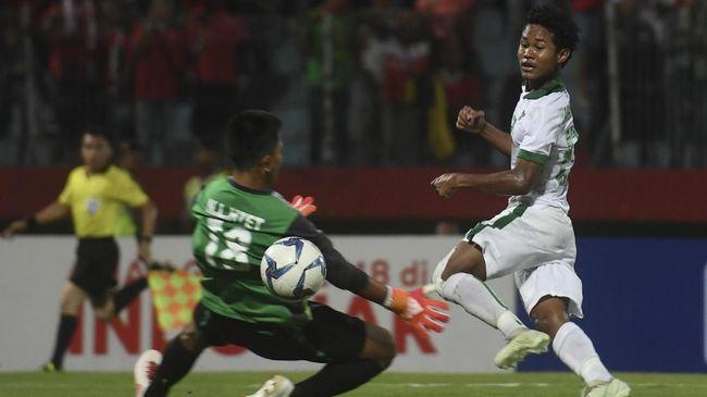 Penyerang Timnas Indonesia U-16 Amirudin Bagus Kahfi akan menjadi sorotan di semifinal Piala AFF U-16 2018 saat melawan timnas Malaysia U-16.