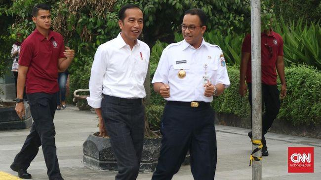 Gubernur DKI Jakarta Anies Baswedan dijadwalkan akan bersama dengan Presiden Jokowi dalam tiga agenda di Jakarta selama Senin (3/12).