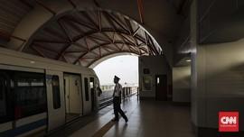 Tunggak Listrik Rp189 Juta, Jalur LRT Palembang Gelap Gulita