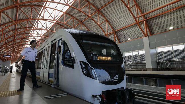 Sisa tiga stasiun yang belum beroperasi dalam target 13 stasiun LRT Palembang.