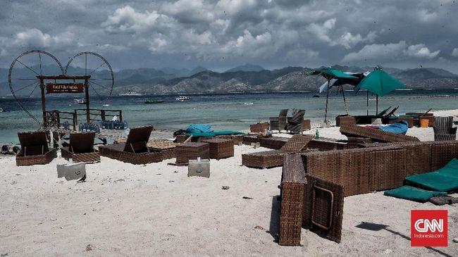 Saat gempa mengguncang Lombok, NTB,  Minggu (5/8), dua turis Irlandia yang tinggal di Uni Emirat Arab sedang menuju Gili Trawangan.