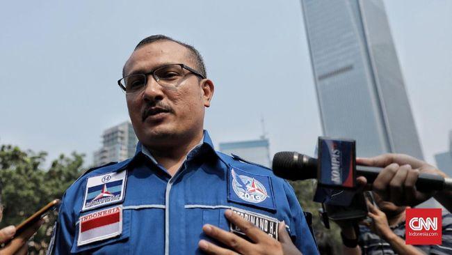 Ferdinand Hutahaean akan menyerahkan surat pengunduran dirinya sebagai kader ke Kantor DPP Demokrat, Jakarta Pusat pada pagi hari ini, Senin (12/10).