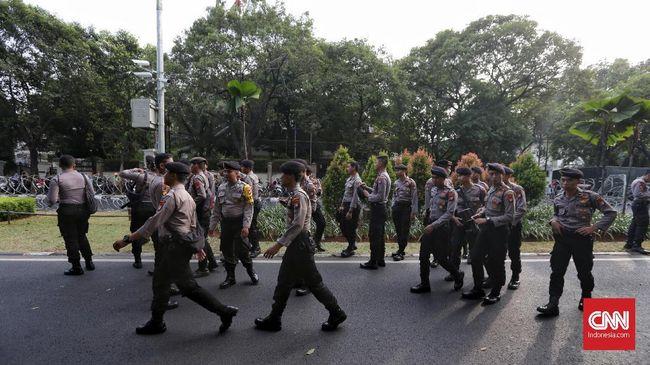 Demi kelancaran sidang, Kepolisian menerjunkan ratusan personel ke Pengadilan Negeri Jakarta Selatan