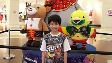 Lucunya Anak-anak Ini Saat Foto Bareng Maskot Asian Games 2018