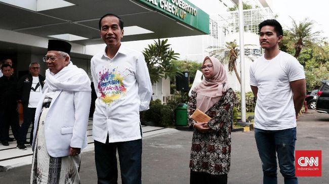 Tak hanya anak, di lokasi tes pemeriksaan kesehatan hadir juga delapan Sekjen Partai Koalisi.