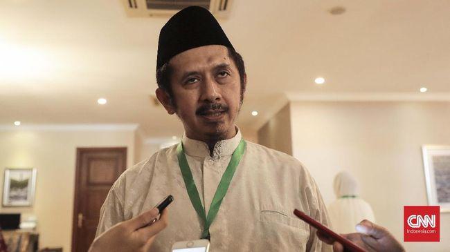 GNPF-MUI Zaitun Rasmin di kediaman dubes Arab Saudi untuk Indonesia, Jakarta (12/8). (CNN Indonesia/ Hesti Rika)