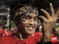 FOTO: Flashmob 'Tunjukan Indonesiamu' Sambut Asian Games