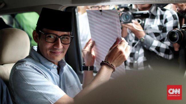 Sandiaga Uno mengaku tak mengeluarkan dana sepeser pun agar dirinya bisa dicalonkan sebagai wakil presiden oleh Prabowo Subianto.
