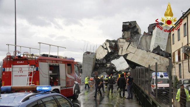 Duta Besar RI untuk Italia Esti Andayani menyatakan tak ada laporan warga Indonesia yang menjadi korban dalam insiden jembatan jalan tol runtuh di Genoa.