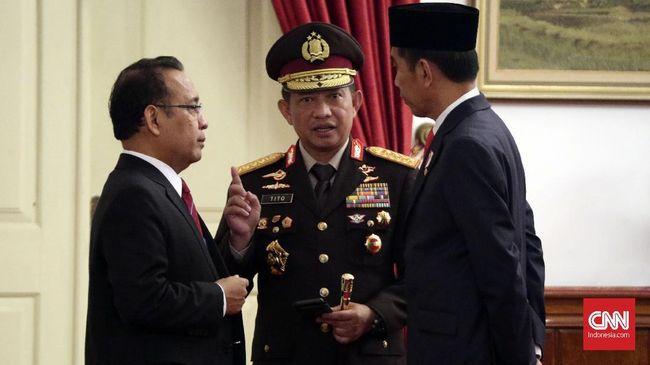 Mabes Polri secara institusi belum memberikan komentar maupun sikap tegas menindaklanjuti pengakuan eks kapolsek yang diminta bergerak dukung pemenangan Jokowi.
