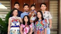 <p>Bahagia selalu keluarga Manny Pacquiao. (Foto: Instagram/mannypacquiao)</p>