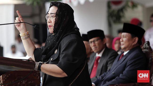 Prabowo Subianto menunjuk Rachmawati Soekarnoputri berada di bawah strukturnya dalam Dewan Pembina Gerindra.