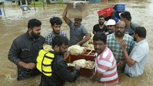 Hujan Lebat Picu Banjir di Kerala India, 22 Orang Tewas