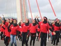 'Flash Mob' Pesona Merah Putih Buka Festival Teluk Ambon
