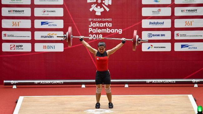 Sri Wahyuni Agustiani berhasil meraih medali perak Asian Games 2018 untuk Indonesia di cabang olahraga angkat besi kelas 48 kilogram.