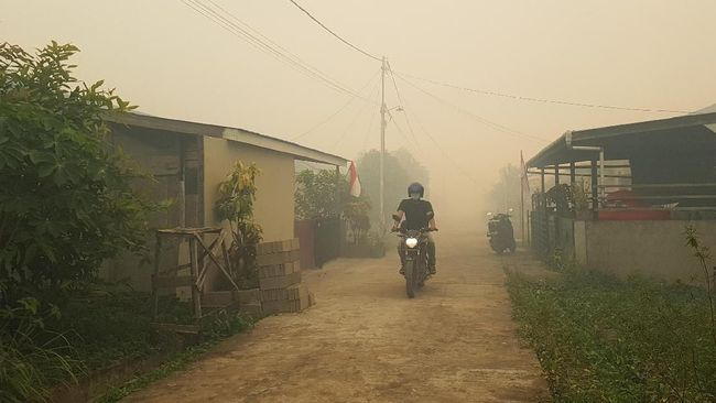 Kabut Asap Mulai Masuki Rumah Warga Banjarmasin