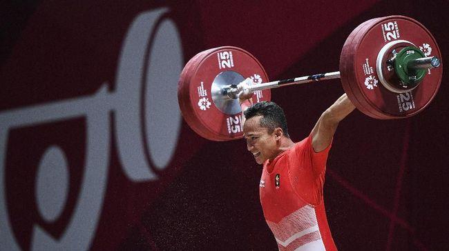 Indonesia gagal meraih medali Asian Games 2018 dalam cabang olahraga angkat besi nomor 69 kilogram putra akibat ditinggal pelatih saat bertanding.