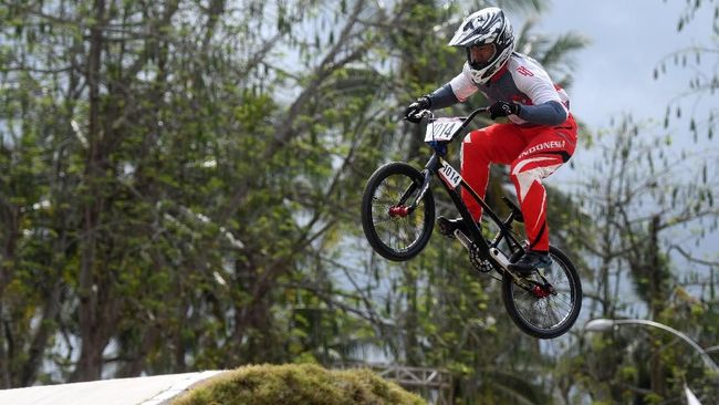 Sepeda Thrill produksi Gresik, Jawa Timur siap  mengguncang pagelaran Olimpiade Tokyo 2021 dengan dua pebalapnya.