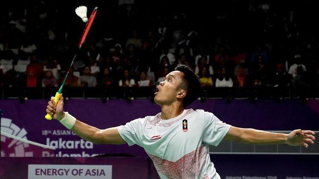Pebulutangkis tunggal putra Indonesia Anthony Sinisuka Ginting bakal langsung berhadapan dengan Lin Dan di babak pertama China Terbuka 2018.