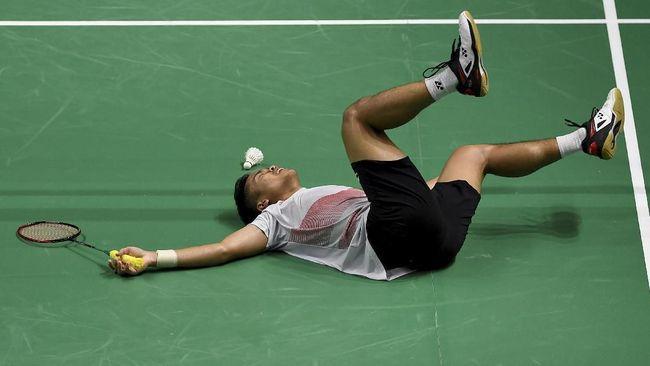 Tunggal putra Indonesia, Anthony Ginting, gagal ke semifinal Selandia Baru Terbuka 2019 usai dikalahkan Lin Dan 23-25, 21-6, dan 12-21 di Auckland, Jumat (3/5).