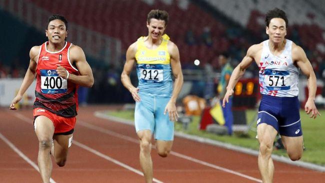 Lalu Muhammad Zohri lebih banyak menangis setelah berhasil memastikan lolos ke Olimpiade Tokyo 2020 di Seiko Golden Grand Prix 2019.
