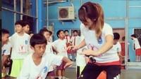 <p>Sejak kecil Maria Selena suka banget bermain basket. (Foto: Instagram @mariaselena_)</p>