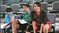 <p>Kira-kira ini persiapan syuting atau akan main basket ya? (Foto: Instagram @mariaselena_)</p>