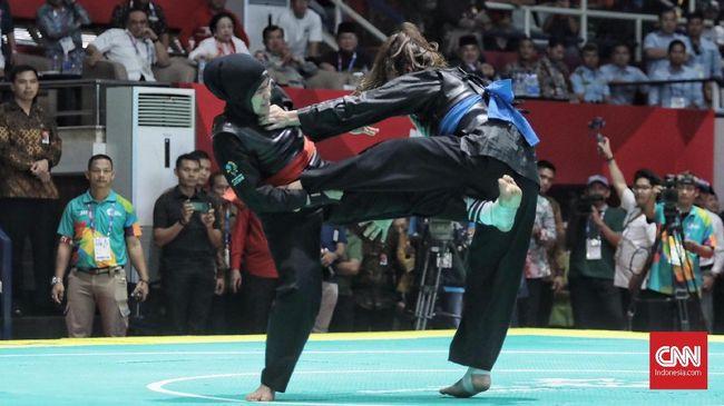 Tiga medali emas diraih kontingen Indonesia pada hari kelima SEA Games 2019, Kamis (5/12) pagi, melalui cabang olahraga pencak silat dan modern pentathlon.