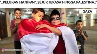 <p>Bahkan pelukannya kedamaian Jokowi-Prabowo bisa sampai ke anak-anak di Gaza lho. Adem ya lihatnya. (Foto: Instagram/muhammadhusein_gaza)</p>