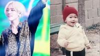 <p>Wah, Yesung sudah pintar bergaya dari kecil nih, Bun. (Foto: Instagram/yesung1106)</p>
