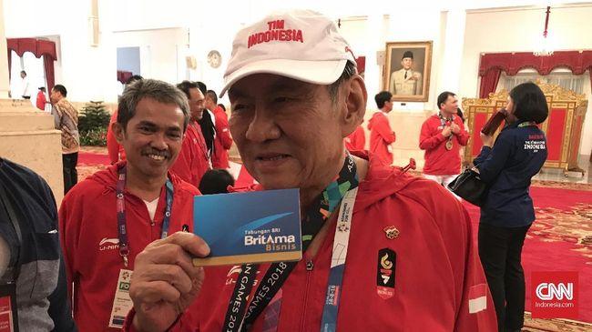 Konglomerat Indonesia Michael Bambang Hartono menjadi salah satu atlet penerima bonus Asian Games 2018 yang diberikan Presiden Joko Widodo, Minggu (2/9).