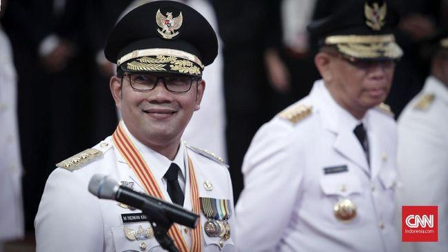 Gubernur Jabar, Ridwan Kamil, akan melantik lima kepala daerah yang terpilih di Pilkada Serentak 2020 di Gedung Merdeka, Bandung, pada hari ini, Jumat (26/2).