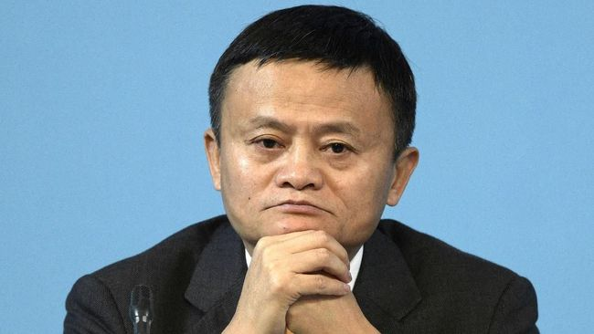 Alibaba Group Executive Chairman Jack Ma gestures next to World Trade Organization Director General Roberto Azevedo (out of frame) during an e-commerce conference at the 11th WTO ministerial conference in Buenos Aires, Argentina, on December 11, 2017.