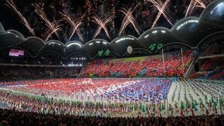 FOTO: Atraksi Seni Perayaan Tujuh Dekade Korea Utara