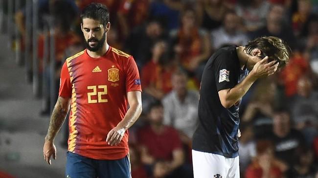 Timnas Spanyol sukses menaklukkan Kroasia dengan skor 6-0 dalam UEFA Nations League. Berikut foto-foto terbaik dari laga tersebut.