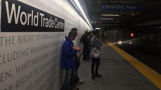 Stasiun Cortlandt Street yang hancur lebur dalam aksi terorisme 9/11 telah beroperasi kembali pada 11 September 2018.