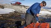 Gletser Helheim di Greenland kembali runtuh, hal ini merupakan dampak dari perubahan iklim di bumi.