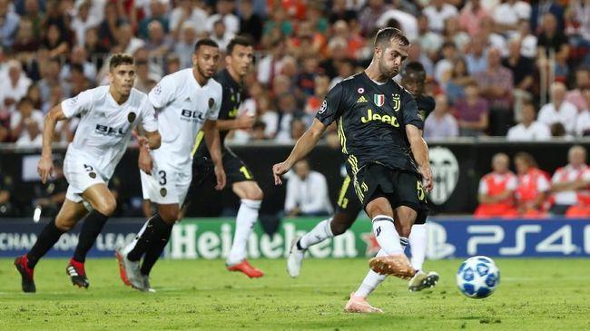 Duel panas antara Juventus melawan Valencia bakal tersaji di Liga Champions 2018/2019 Grup H pekan kelima, di Allianz Stadium, Rabu (28/11).